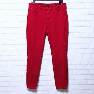 NYDJ Alina Red Skinny Jean Leggings 14